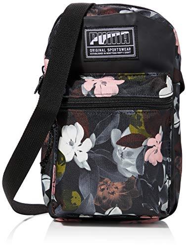 PUMA Unisex– Erwachsene Academy Portable umhängetasche, Black-floral AOP, OSFA