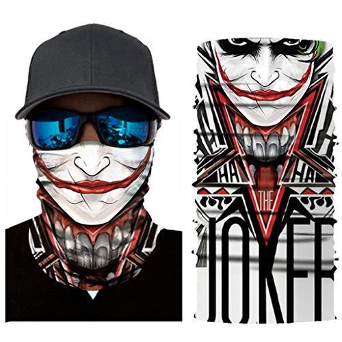 Yanhonin Bandeau Magique et Mode, pour Les Sports d'extérieur, Cache-Cou pour Cycliste, Masque Facial, Foulard pour Les Cheveux, écharpes, Bandanas (B#)
