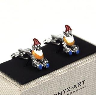 Onyx Art Cufflinks Garden Gnomes