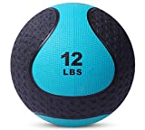 Medicine Exercise Ball with Dual Texture for Superior Grip by Day 1 Fitness - 12 Pounds - Fitness Balls for Plyometrics, Workouts - Improves Balance, Flexibility, Coordination