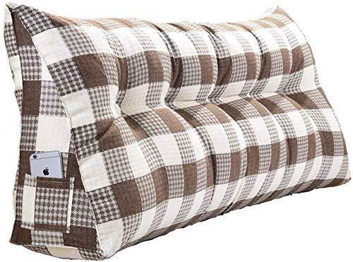 B-fengliu Triangolo Nachttisch Große Kissen, Keilkissen, Platzieren Stützkissen for das Lesen der Rückseite, Schlafsofa Tägliche Bett Soft-Kopfteil, abnehmbar und waschbar Multifunktions-