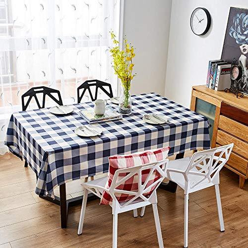 Zmuyu Modern rechthoekig tafelkleed, tafelkleed, familie-keukentje, geblokte tafelkleed, voor feestdecoratie