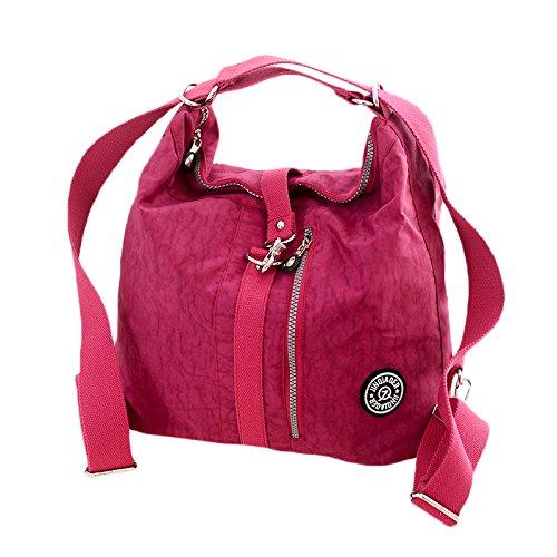 Surenhap Borsa Tracolla Donna casuale multi tasca Borsa a tracolla impermeabile alla moda Organizzare borsa da viaggio a tracolla per donna e madre - Viola chiaro