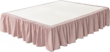 مفرش سرير من الكتان الفرنسي المغسول من ميدو بارك، كشكشة غبار، حجم كبير، ناعم جدًا، نمط كشكشة