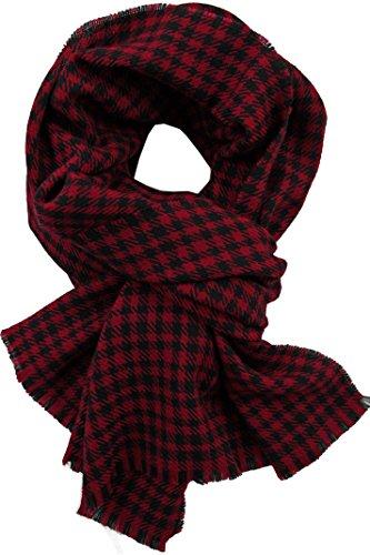 Rotfuchs Echarpe tissée écharpe à carreaux rouge noir 100% laine (mérinos)