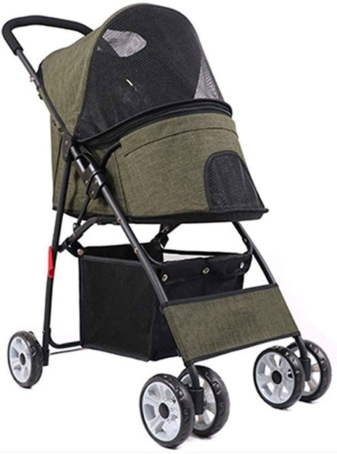 CDDJJ Pet Stroller Dog Stroller The detachable seat cushion is easy to clean, made of frosted oxford cloth with a matte texture and is not easy to wrinkle. (color   B)