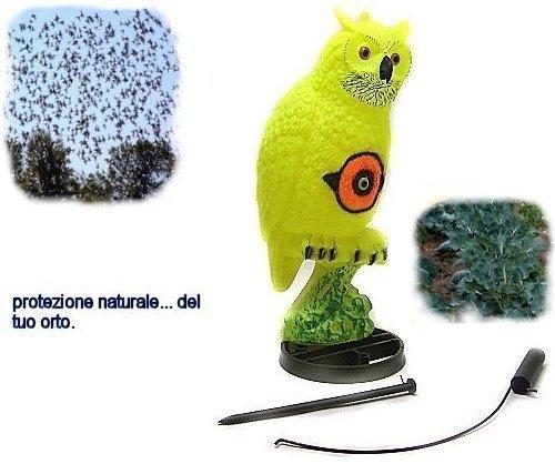 Chasse Oiseaux Sport plast Hibou jaune avec accessoires éloigne oiseaux