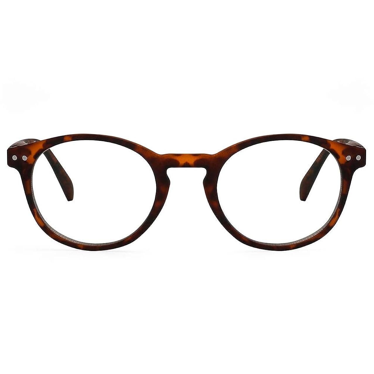 Cyxus Computer Blue Light Blocking Vintage Retro Glasses for Man and Woman, Anti Eye Strain Eyewear UV Headaches for Digital Screens (8301T10,Tortoise)