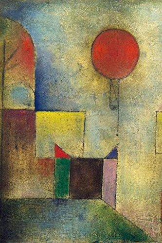 1art1 Paul Klee - Roter Ballon, 1922 Selbstklebende Fototapete Poster-Tapete 180 x 120 cm