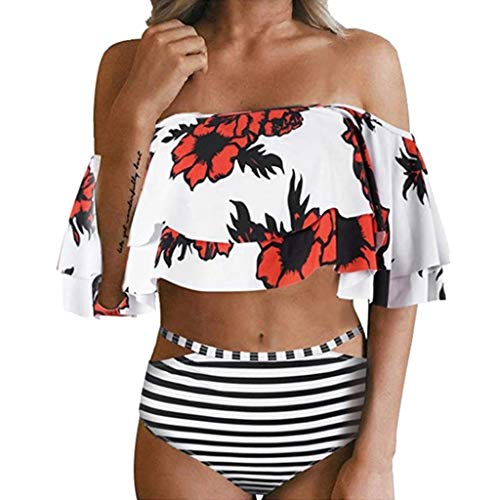 ReooLy häkel Bikini Baby schulterfrei sexy Damen rosa 90d Strawberry Camouflage 60s net srxy Blumen trägerloser veet 164 Dorina Bikini Frauen ck mädchen BH Bag Pads behaarter 81g Bikinis Teenager