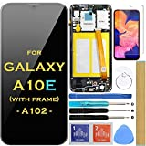 Screen Replacement LCD Display Touch Digitizer Assembly with Frame for Samsung Galaxy A10e A102 SM-A102U S102DL A102U1 A102W 5.83' (Black with Frame))