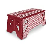 eXpace Folding Step Stool, 13-Inch Wide, Non-Slip for Indoor and Outdoor Use, Adults and Kids up to 350 lbs, Red...