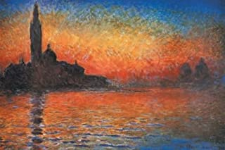 Global Prints San Giorgio Maggiore at Dusk (Sunset in Venice) by Claude Monet 11