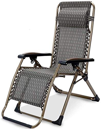Lhak Sillón reclinable al Aire Libre Jardín sillón reclinable de Gran tamaño del XL Acolchada Ajustable con Soporte de Apoyo for la Cabeza
