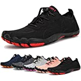 Water Shoes for Men and Women Barefoot Quick-Dry Aqua Sock Outdoor Athletic Sport Shoes for Kayaking, Boating, Hiking, Surfing, Walking (A-Black, 41)