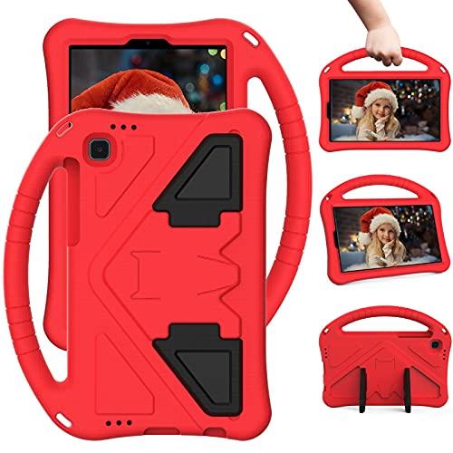 SZCINSEN Funda para niños para Samsung Galaxy Tab A7 Lite Case 2021 8.7 pulgadas SM-T225/T220, para niños Eva a prueba de golpes, ligera, a prueba de caídas, color rojo