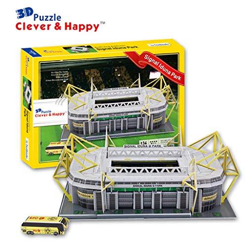 Mankvis 3D Puzzle Iduna Signal Park Stadium Model, Bundesliga Dortmund Heimstadion Replica Fans