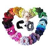 KUKICAT Haargummis Scrunchies Mädchen,Haargummis Samt Elastische Haarbänder Haar Gummibänder Bunte Haar Scrunchies für Frauen (Multicolor, 15 pcs)