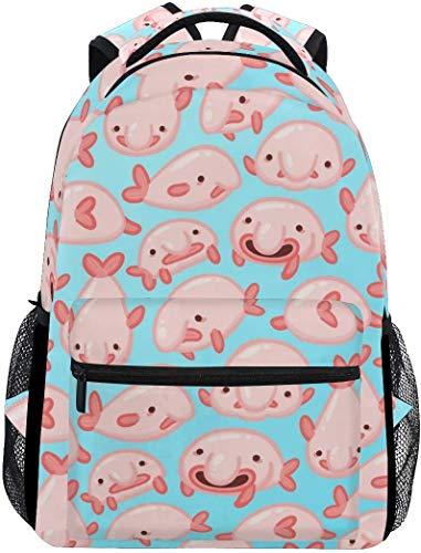 Tactical Backpack For Men Blob Fish Blobfish Casual Bookbag Daypack Laptop Teen Girls Boys School Bag