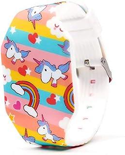 MINILUJIA Kid Girls Digital Watch Cute Cartoon Design Unicorn - Sweet Heart-Shaped Dial Led Waterproof Watch Comfortable S...