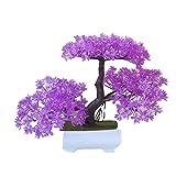 YTHX Flor Artificial Bola De Cerezo De Pino Maceta De Flores Artificiales En Maceta Bokeh Trigeminal Decoración De Flores Falsas para El Hogar23