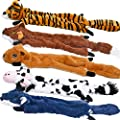 SHARLOVY Dog Squeaky Toys 5 Pack, Pet Toys Crinkle Dog Toy No Stuffing Animals Dog Plush Toy Dog Chew Toy for Large Dogs and Medium Dogs Squeeky Doggie Toys Puppy Toys Squeak