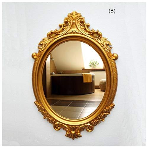 CJW Pendentif en verre de miroir antique nordique vintage salon salle de bain salon 80 cm * 54 cm (Color : B)