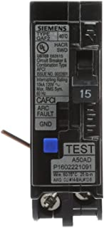 Siemens QA115AFCWG 15 Amp Combination Arc Fault Circuit Interrupter (AFCI) for Use on Wire Guide Series of Load Centers