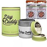 Dry Caddy (Dose inkl. 6 Discs), Trockenmittel, Trockensteine inkl. StartPower Hörgerätebatterien A13 (12 Stück)