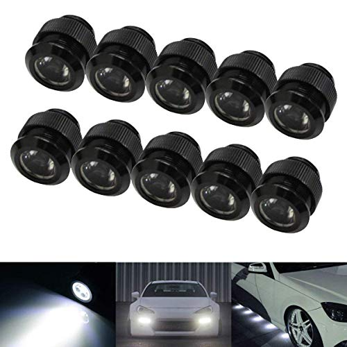 iJDMTOY 10pc 30W High Power Flexible LED Lighting Kit Compatible With Daytime Running Light or Under Car Puddle Light, 6000K Xenon White