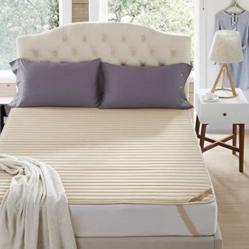 GLzcyoo ultratunn vikbar madrass, tunn och flexibel botten madrass halkfri-stoppning Futon madrass övermadrass (färg: B, storlek: 1,8 x 2 m)