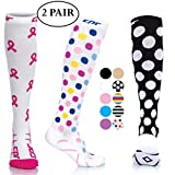 CPR Compression Socks for Women Men Nurses Compression Stockings for Woman Graduated Compression Sock 20 30 mmHg Knee High Nursing Travel Comfortable