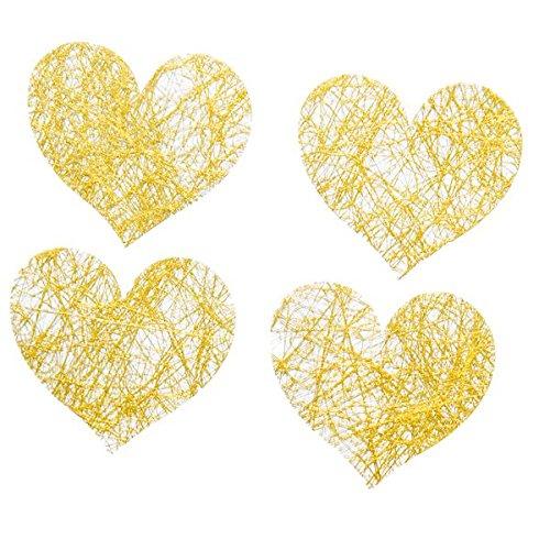 Chaks 0214-81 - Sachet 100 cœurs romance, Or