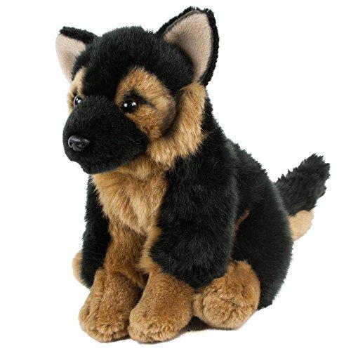 Teddys Rothenburg Kuscheltier Schäferhund sitzend 19 cm schwarz/braun Plüschschäferhund