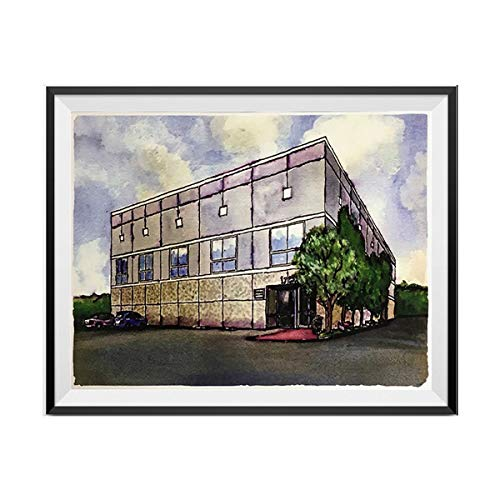 Pam Beesly The Office Building Watercolor Painting