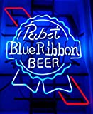 QUEEN SENSE 20'x16' Pabst Blue Ribbon Neon Sign (VariousSizes) Beer Bar Pub Man Cave Business Glass Lamp Light DC284