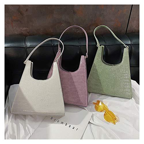 Yi-xir Bolso favorito para mujer con cremallera para axilas, bolso de hombro sólido semblance para mujer, bolso de hombro inactivo y simple para mujer, mochila diagonal (color: beige, tamaño: A)