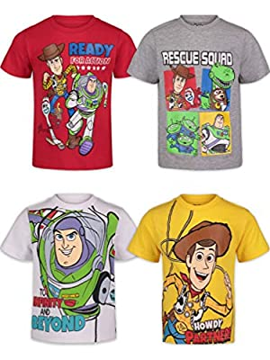 Disney Toy Story Toddler Boys Short Sleeve 4 Pack T-Shirts Buzz Woody Forky 2T