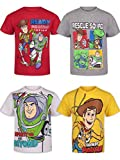 Disney Toy Story Toddler Boys Short Sleeve 4 Pack T-Shirts Buzz Woody Forky 5T