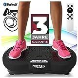 Miweba Sports Fitness 2D Vibrationsplatte MV100-3 Jahre Garantie - 3 multidimensionale Vibrationszonen - Oszillierend - 250 Watt (Schwarz)