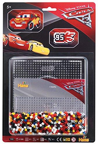 Hama 7990 - Sortiment Cars 3, ca. 1100 Bügelperlen und große Stiftplatte