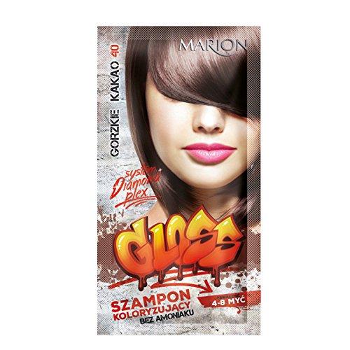Marion - Champú de color brillante para el cabello en bolsitas de 4 a 8 lavados Ammonia FREE 40 Bitter Cocoa