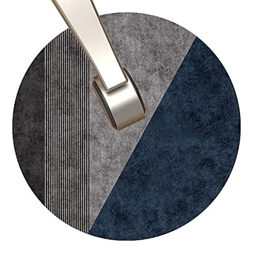 Stuhl Matte, Effektiv Schützender Boden, Runder Stuhlmatte, Leicht Sauber und Waschbar, Blau(Size:120cm/48in,Color:Blau)