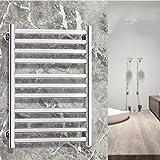 Perchero calentador de toallas de acero inoxidable 304, Perchero de secado calentador de toallas, 55 & deg;C Temperatura constante, 73 & times; 50 & times; 10.2Cm, para familias, baños de hotel, ca