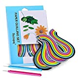 Paper Quilling Strips (3/5/7/10 mm Width (4 Packs with 2 Quilling pens)