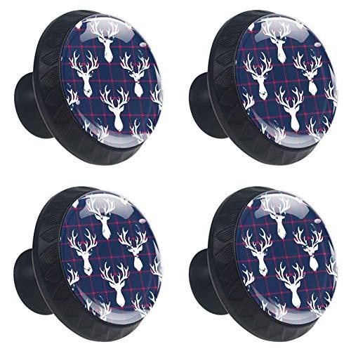 TIZORAX Crab In Chevron ladeknoppen deurgrepen 30mm 4 stuks glazen lade trekt voor thuis keukenkast 3.5×2.8CM/1.38×1.10IN Patroon 2