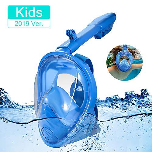 Máscara de Buceo, Máscara Facial Completa, 180 ° Máscara de Buceo, Máscara de Snorkel, Máscara Easybreath, Anti-vaho Anti-Fuga, Tamaño Universal para Todos Niños