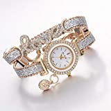 Outdoor Sport Watches Alloy Diamond Love Letter...