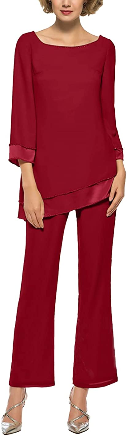 Cheap super special price Chiffon Pants Suits Raleigh Mall Sets for Mother of Bride Women 2 The PC Outf