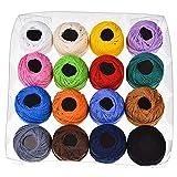 Hilos de Bordado de Hilo 16 Colores Rollo Arte de DIY Bordado de Hilo de Tejer Conjunto de Punto de Cruz teñido línea de Costura Herramientas Accesorios (Color : Single Color Floss, Size : 1)